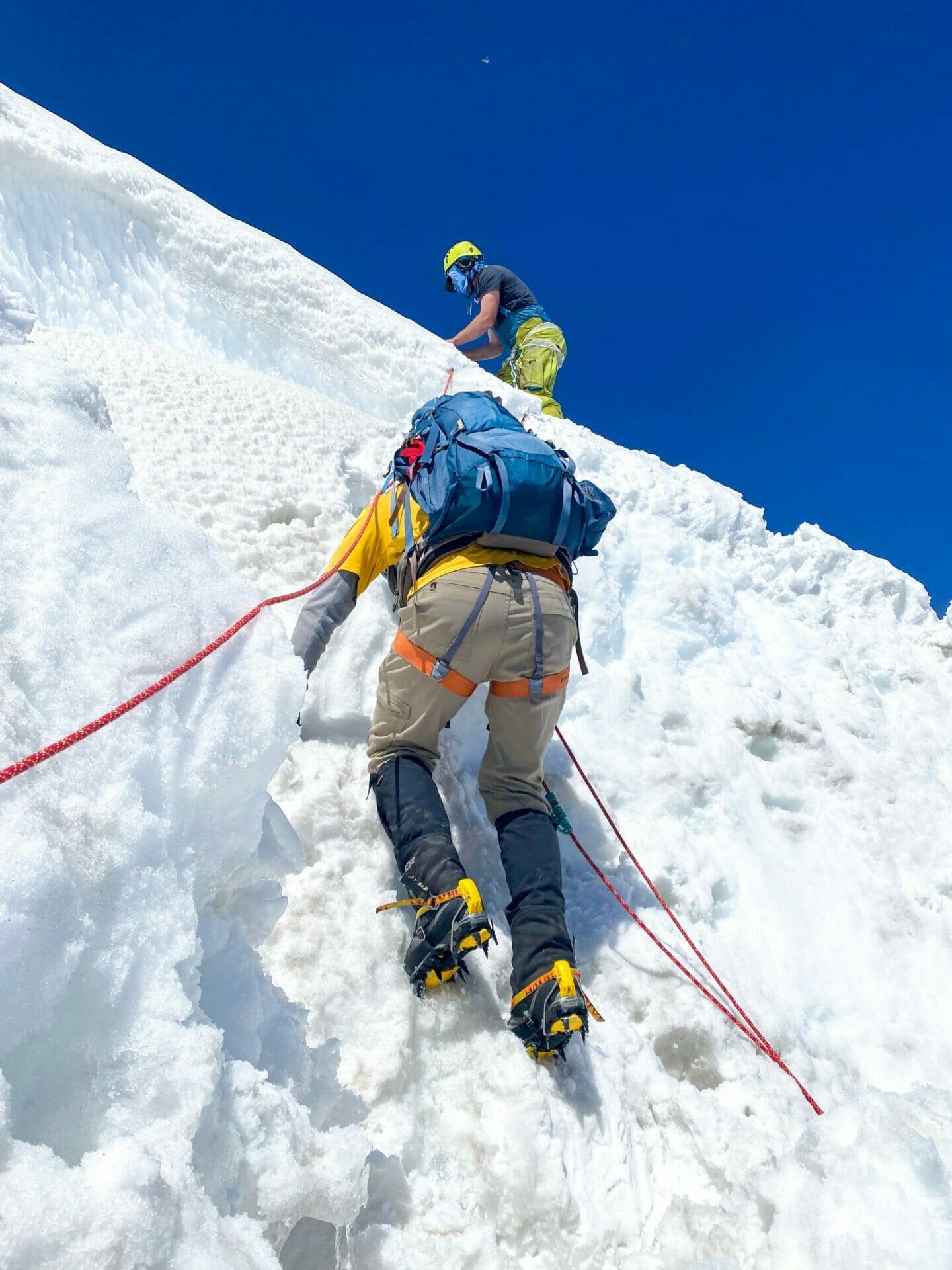 Climbing Mt Rainier Emmons Glacier Camp Schurman