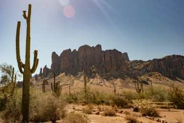 Superstition Mountains Phoenix Arizona Flat Iron Siphon Draw