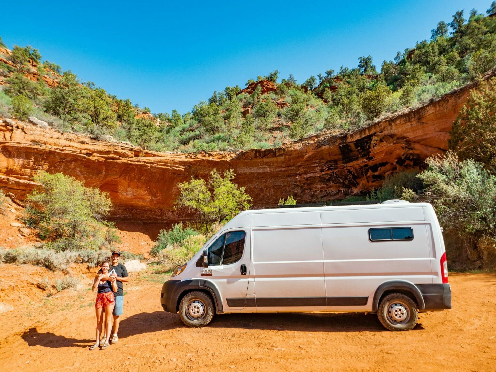 Camping vanlife Kanab Utah