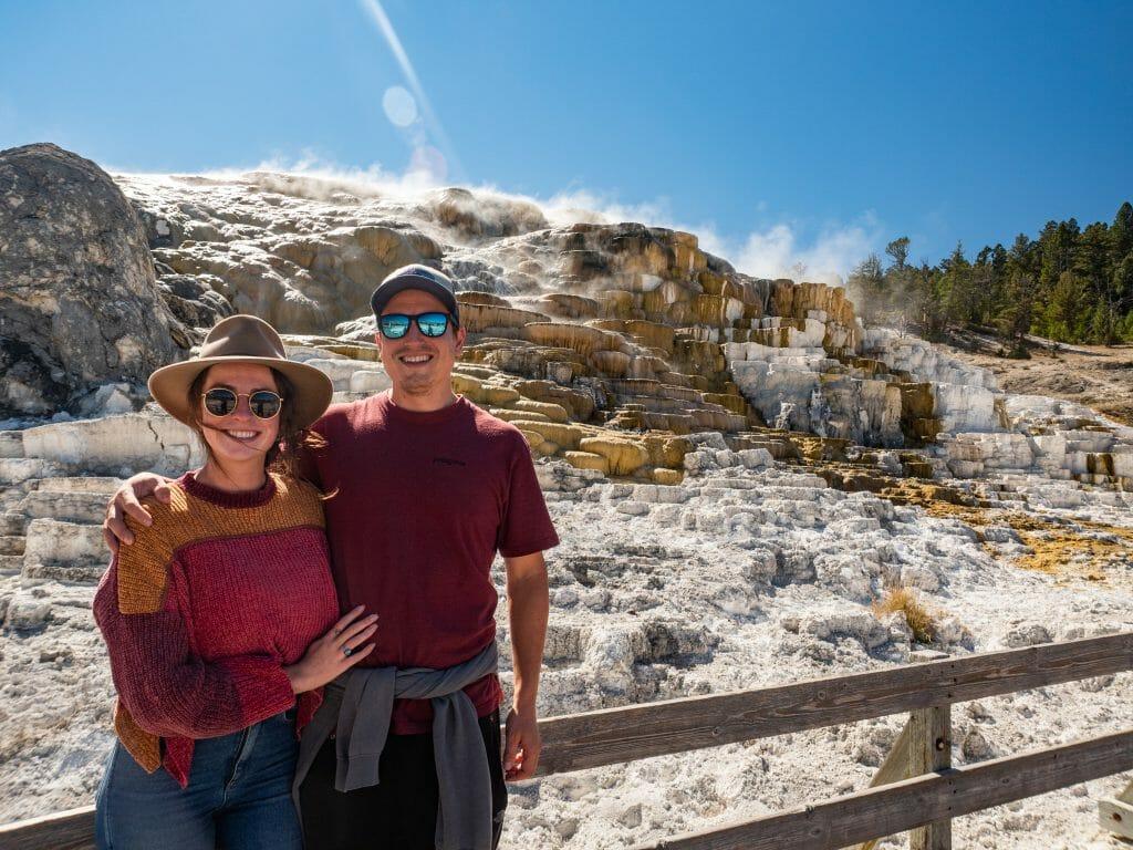 Yellowstone National Park itinerary Mammoth Hot Springs
