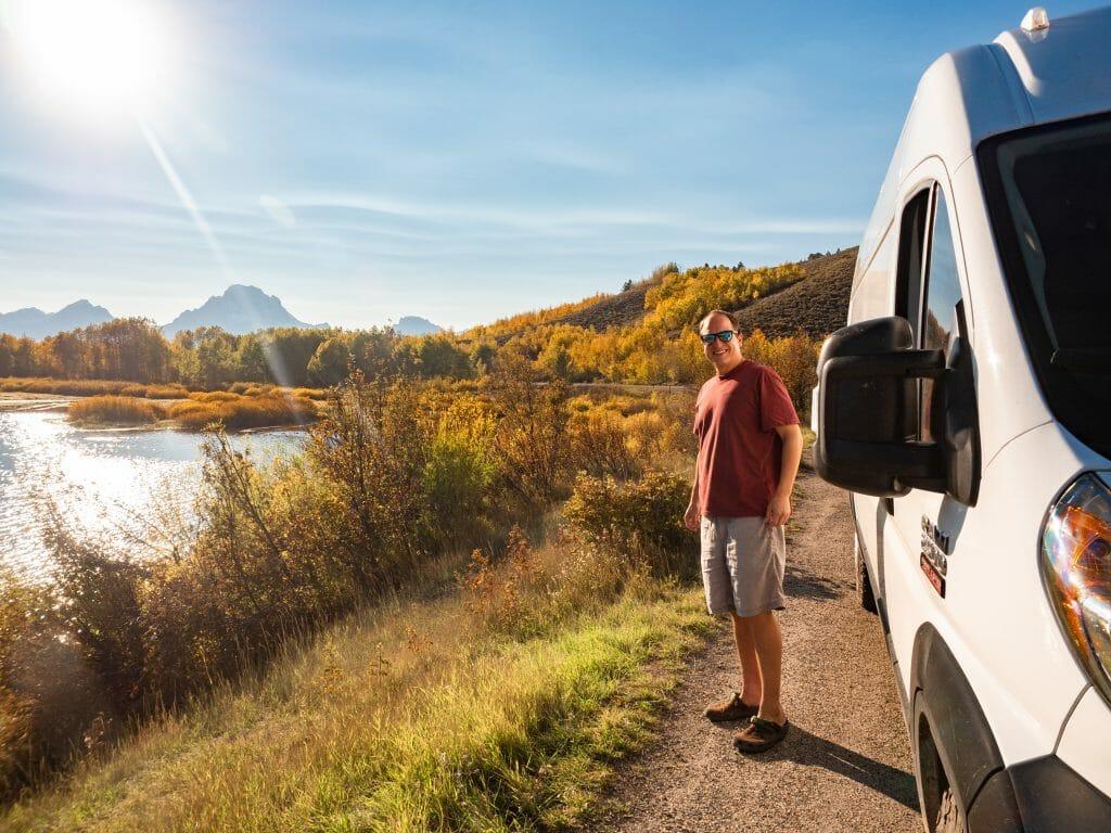 Grand Teton National Park camping vanlfie