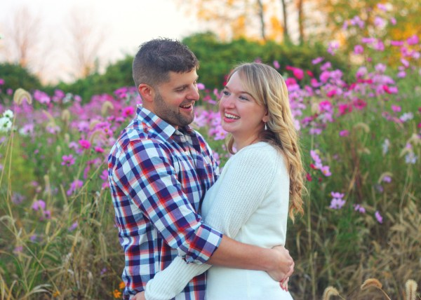 engagement photo session at the park