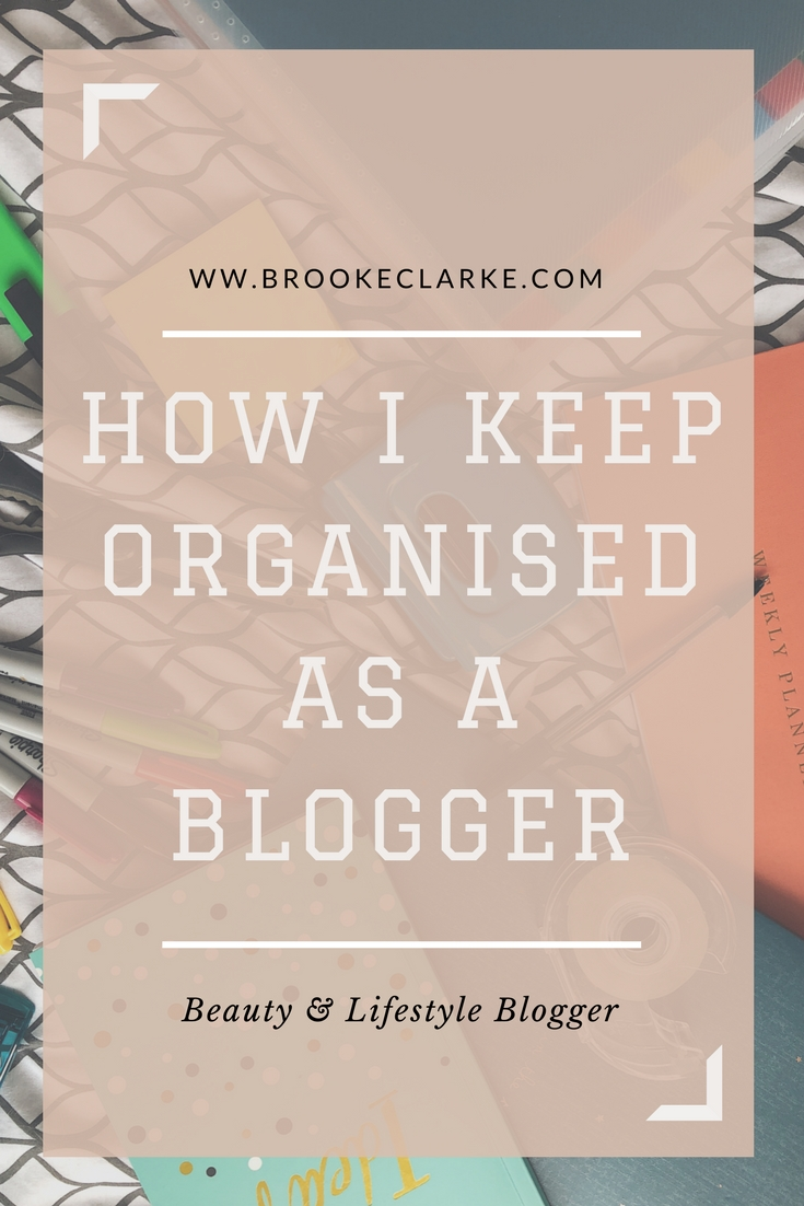 Keeping organised as a blogger Pinterest pin