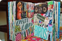 brooke gibbons collage art journal waking up