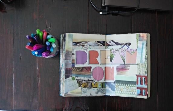 brooke gibbons collage art journal