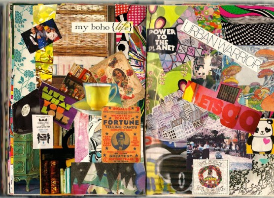 collage scan art journal brooke gibbons