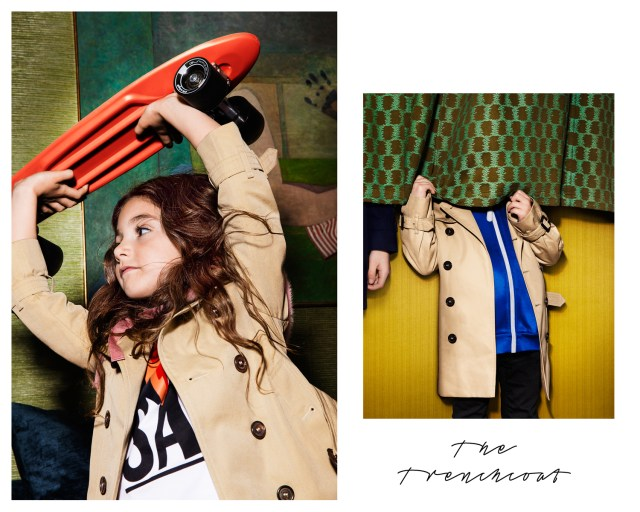 Burberry Childrenswear AW16 campaign
