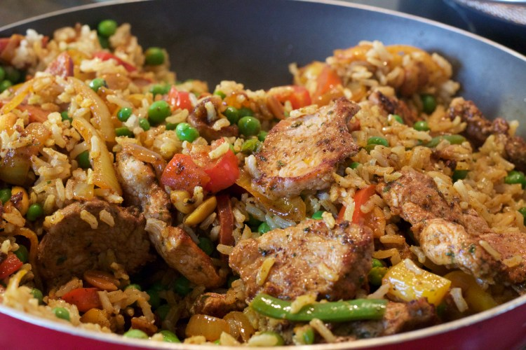 Spicy Pork, Chorizo and Rice Jambalaya