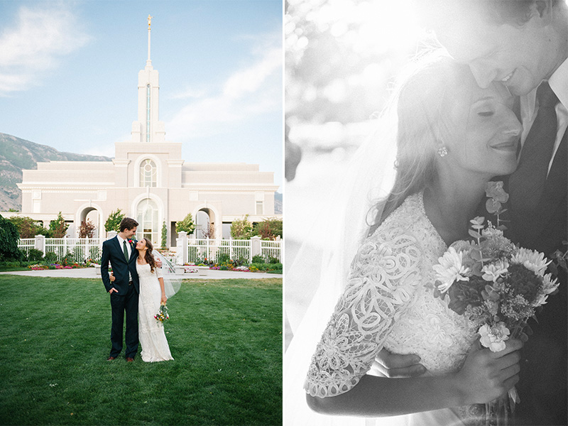 Eliza  Sam Mt Timpanogos Temple Bridals Overflowing