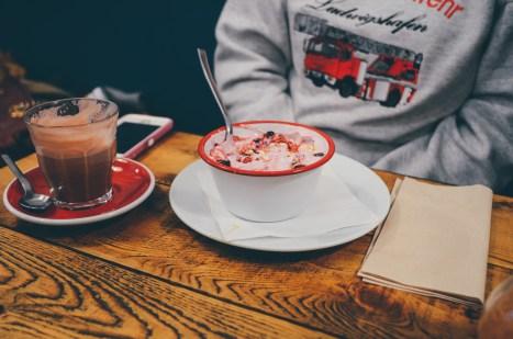 giant muesli bowl with yogurt!