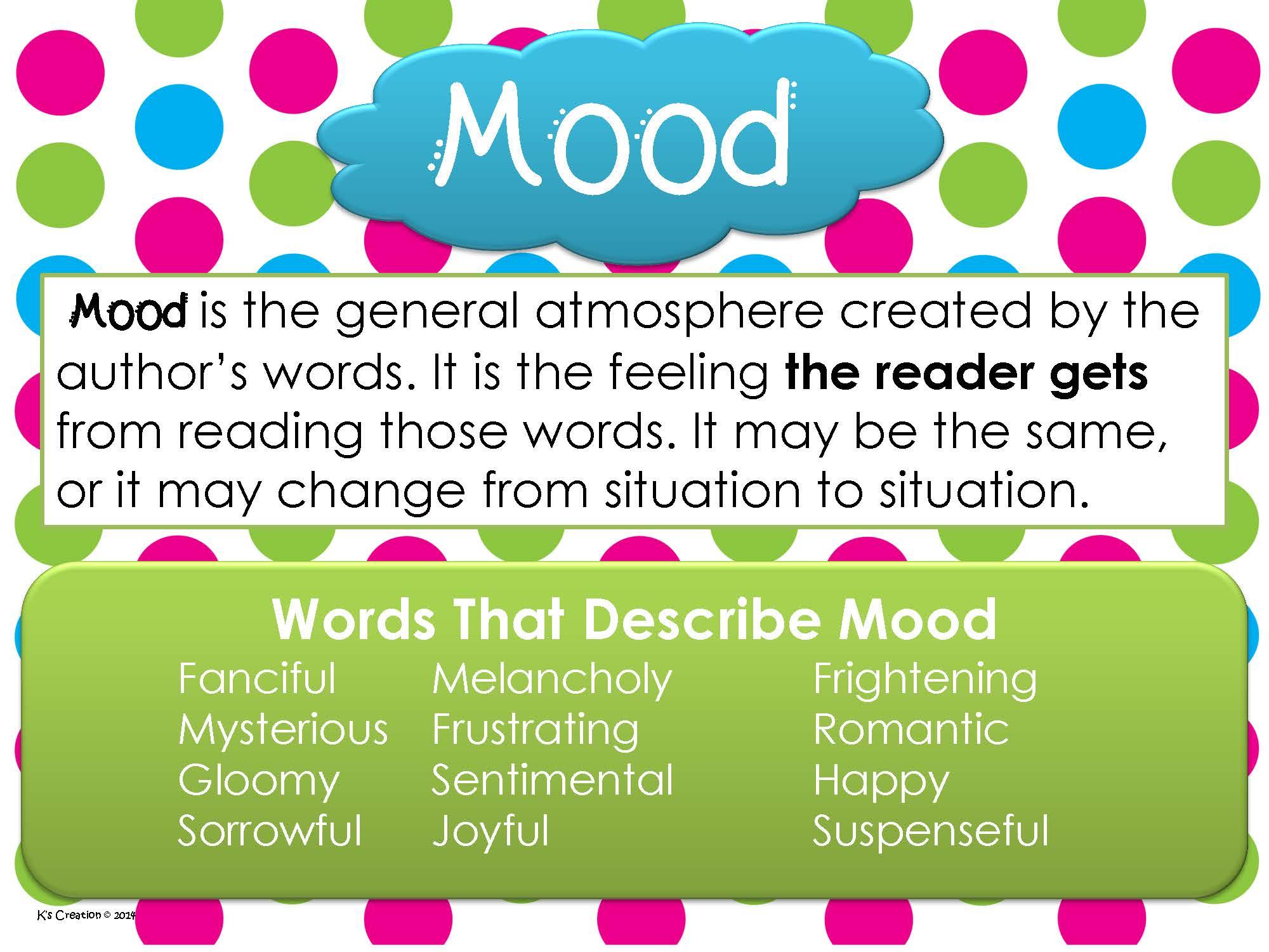 Mood Vs Tone 8th Grade Blogging With Brooke