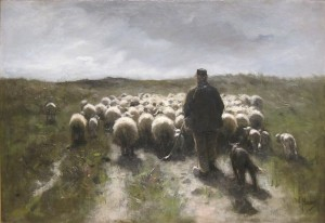 'Shepherd and Sheep' by Anton Mauve