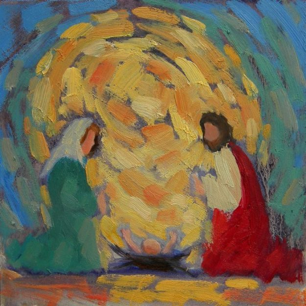 Impressionist painting of the Nativity