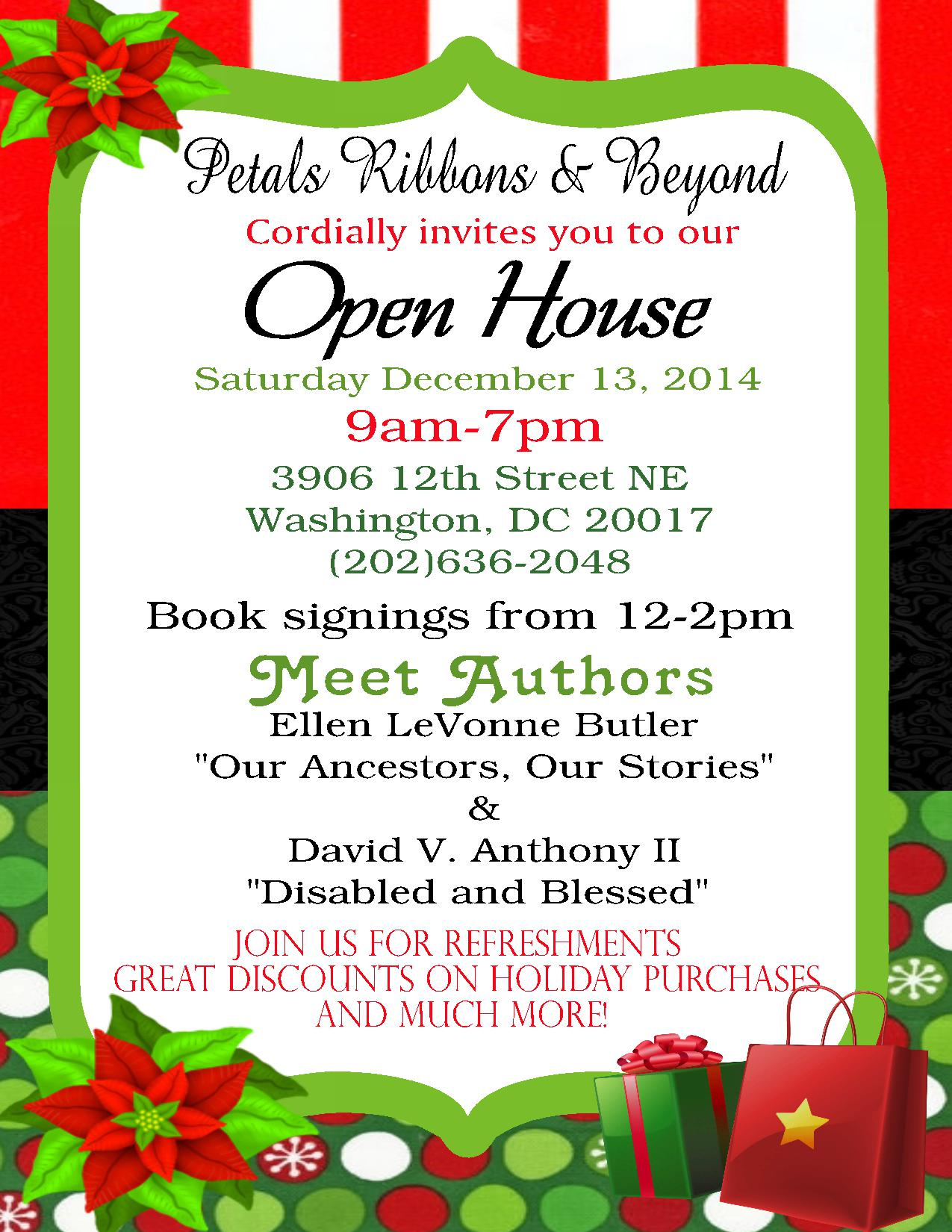 Petals Ribbons & Beyond Invites To Open House On Saturday Dec 13