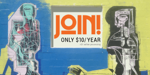Join - only $10/year plus $1 online processing
