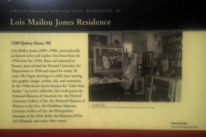 Home of Lois Mailou Jones, famous artist