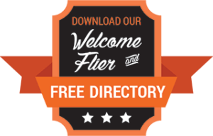 Download our Welcome Flier and Free Directory