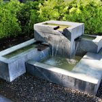 Modern Water Fountains Outdoor Brooklyn Apartment