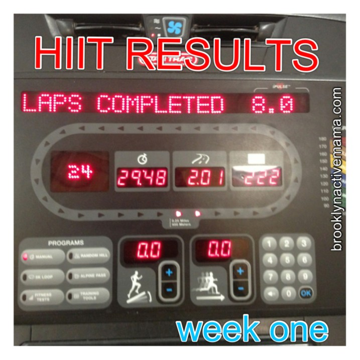 HIIT results week one