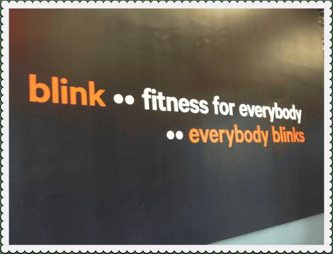 Blink fitness hallway