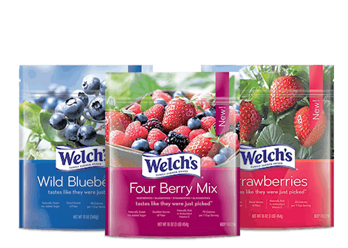 welch's frozen fruit four berry mix wild blueberries strawberries