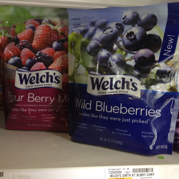 welch's frozen fruit wild blueberries four berry mix