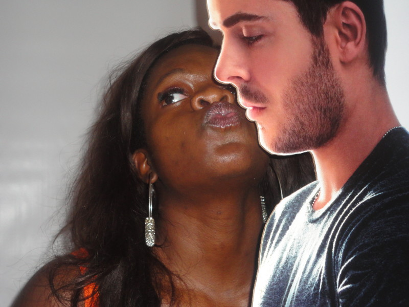 just smoochin' with Zac Efron at Blogher12 :)
