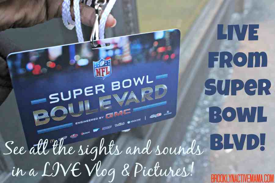 LIVE from Super Bowl Boulevard 2014 in NYC! {Pictures & Vlog}