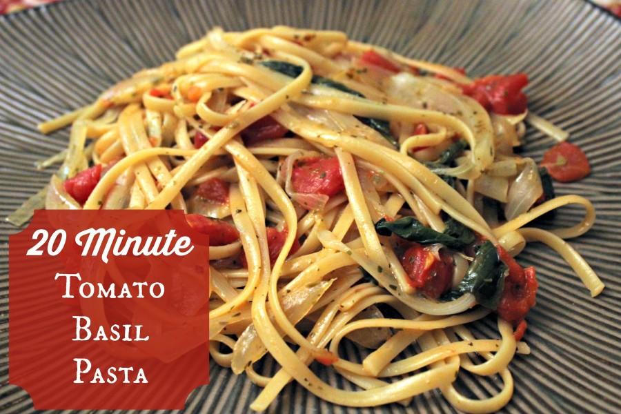 20 minute tomato basil pasta