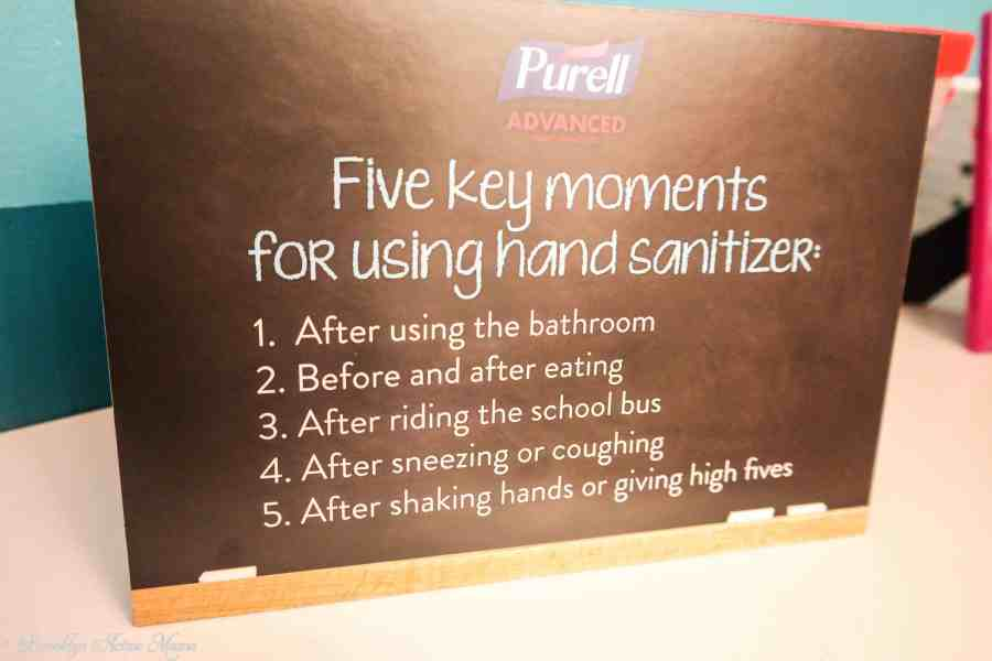 purell hand sanitizer back to school event