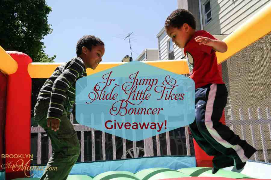 Your Very Own Bouncy House?! Jr. Jump 'N Slide Bouncer Review & Giveaway!
