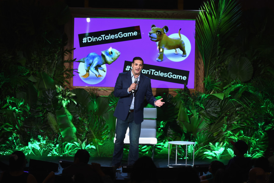 NEW YORK, NY - JULY 16: Mark Horneff of Kuato Studios speaks onstage at the launch of Dino Tales and Safari Tales  at the American Museum of Natural History with Kuato Studios on July 16, 2015 in New York City.  (Photo by Ilya S. Savenok/Getty Images for Kuato Studios)