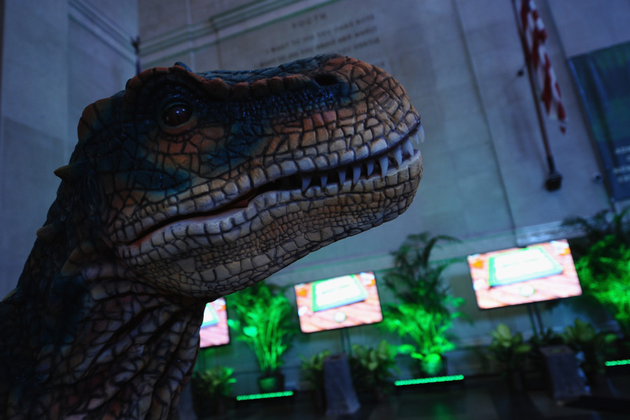NEW YORK, NY - JULY 16:  A general view of atmosphere at the launch of Dino Tales and Safari Tales  at the American Museum of Natural History with Kuato Studios on July 16, 2015 in New York City.  (Photo by Ilya S. Savenok/Getty Images for Kuato Studios)