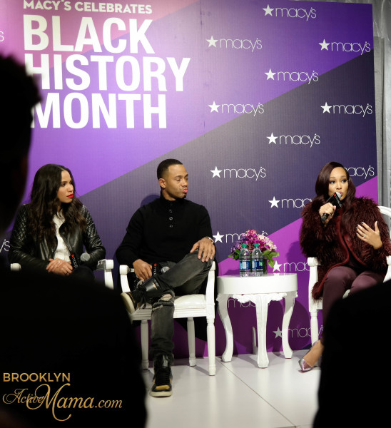 Last week Wednesday I was invited to attend the Macy's Black History Month celebration. As I mentioned in my event pre post the event featured R&B superstar Monica, Actor/Host/Producer Terrance J and Actress Jurnee Smollett Bell. When I arrived exactly at the start time of 6pm the place was already packed and the line of people waiting to get in was crazy long. So many beautiful people of all different ethnicities all there to celebrate Black History Month. After I checked my coat I made my way to VIP seating and got settled in. We kicked off the show with some Black History Trivia which I am ashamed to say that I failed...miserably. It's all good though because I learned a lot! Finally it was time for the main show. Macy's did an excellent job picking these celebrities for the panel because each one of them had so many great things to share. Seeing one of my childhood idols Monica, tell her story while standing strong in her faith was just so refreshing. She talked about having it all and still being in a bad place emotionally. She mentioned that material things only cover up bigger problems. Preach Monica!! Terrance J was also crazy inspiring. He talked about not being the best at everything but how his hard work brought him to where he is today. He shared the story about auditioning for 106&Park--getting rejected--then driving all the way to Atlanta the next day to try out again and landing the job that would propel him to stardom. That story was so incredibly moving and a true testament to what hard work can bring. Afterwards there was food and drinks. I wanted to get a picture with all of the panel but the lines were crazy long and I needed to get home to my husband. I did get this picture with Terrance though! How are you celebrating Black History Month
