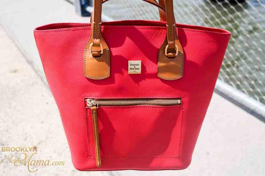 Dooney & Burke Leather Tara Shopper in Red