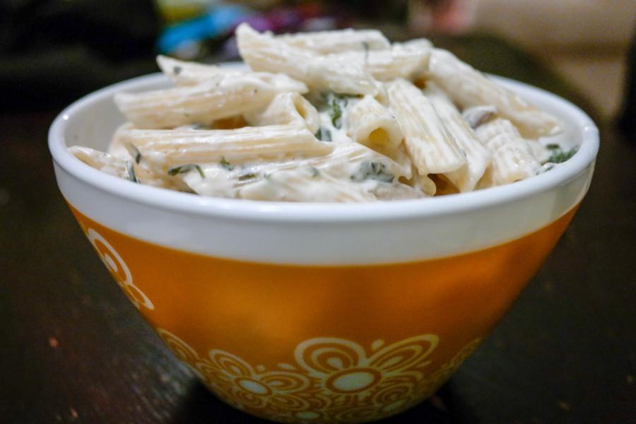 Spinach And Artichoke Creamy Penne Pasta Recipe-8668