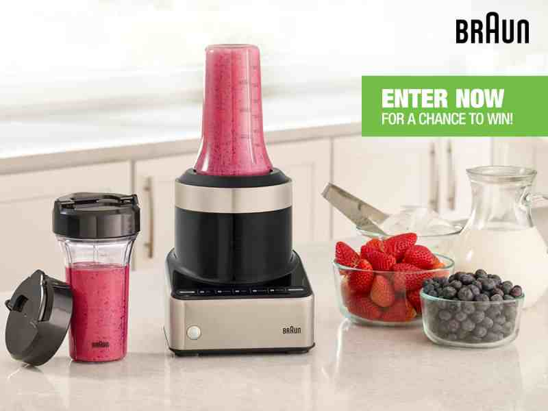BRAUN PureMIX Blender Smoothie To Go Maker Giveaway!