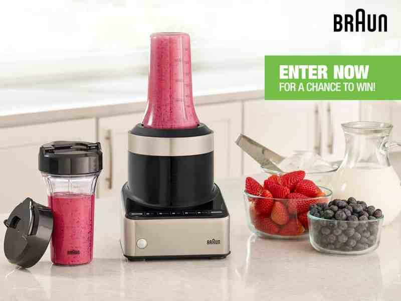 BRAUN PureMIX Blender Smoothie To Go Maker Giveaway!
