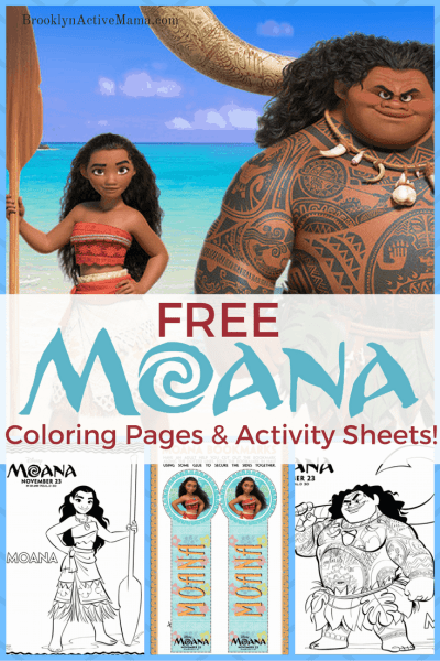 Free Moana Movie Coloring Pages + Activity Sheets!