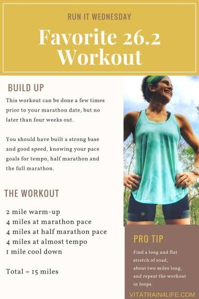 Check out this marathon workout that will get help you to run your best 26.2 yet!