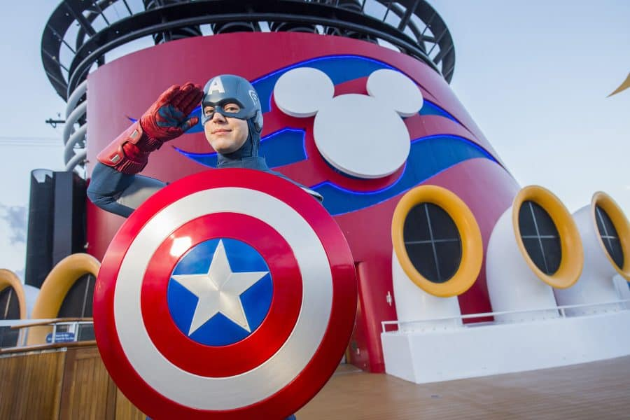 Disney Cruise Line guests will assemble on the Disney Magic to celebrate the epic adventures of the Marvel Universe's mightiest Super Heroes and Super Villains in a brand-new, day-long event: Marvel Day at Sea. The event kicks off on seven special sailings from New York City in the fall of 2017, followed by eight special voyages from Miami departing January through April 2018. The celebration combines the thrills of renowned Marvel comics, films and animated series, with the excitement of Disney Cruise Line entertainment to summon everyone's inner Super Hero for the adventures that lie ahead during this unforgettable day at sea. (Chloe Rice, photographer)