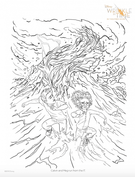 A Wrinkle In Time Free Coloring Pages and Games (Free