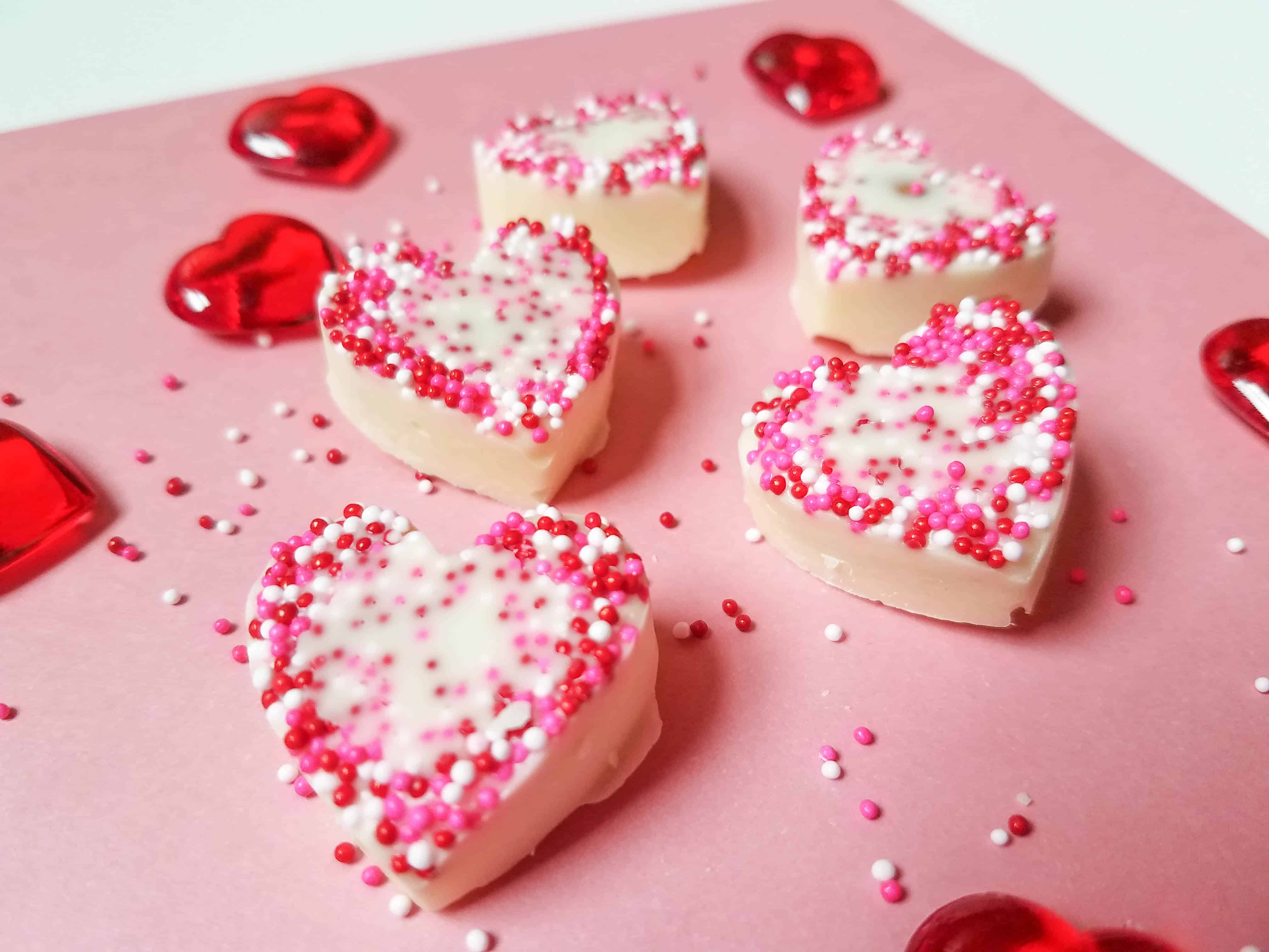 White Chocolate & Almond Hearts