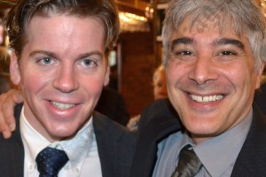 President of the Central Brooklyn Independent Democrats Bobby Carroll and Josh Skaller. - Brooklyn Archive