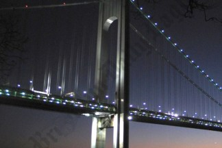 The Verrazano Bridge at Night 11/23/2007 - Brooklyn Archive