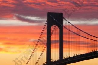 The Verrazano Bridge at Sunset 11/23/2007 - Brooklyn Archive