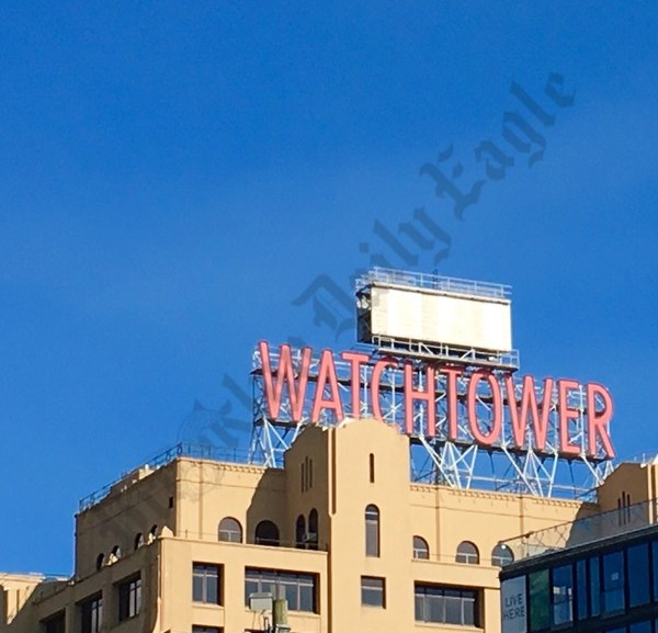 Watchtower Seen From Manhattan, May 2016 - Brooklyn Archive