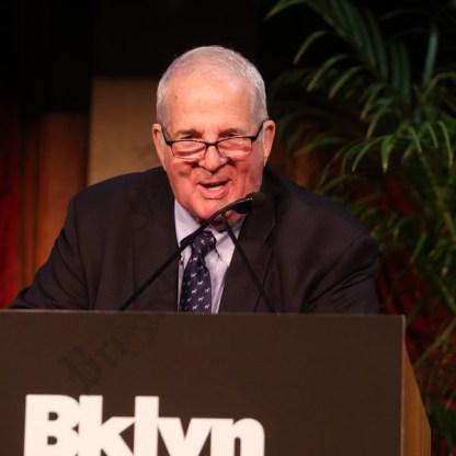 Gala honoree Peter Aschkenasy speaks. - Brooklyn Archive