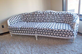 Reupholstering A Vintage Sofa – An Update