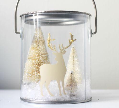 christmas woodland terrarium